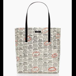 Kate Spade RARE journal/newspaper tote